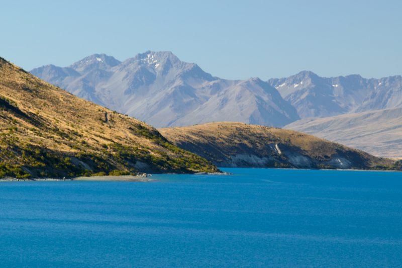 Lake Tekapo super blue water from glaciar